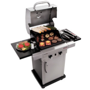 Lò nướng BBQ dùng gas Char-Broil TRU-Infrared Signature 2-Burner 2000 SS SLOPPED LID #467700117